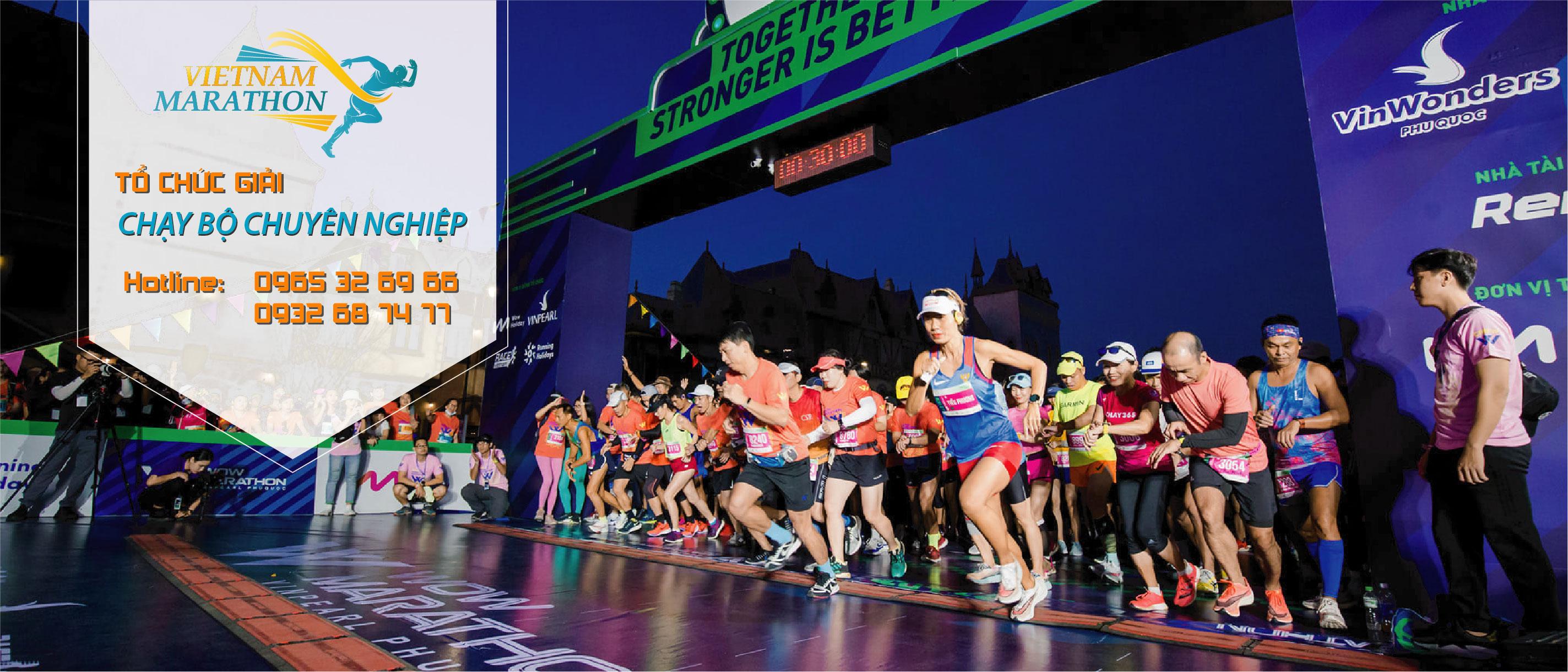Tổ chức giải chạy bộ marathon